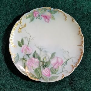 Antique Limoges France Decorative Floral Plate